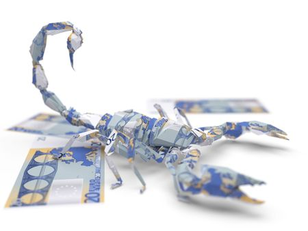 euro origami scorpion Stock Photo - 5922693