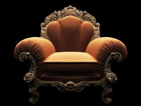 classic chair in the dark  Stock Photo - 5935929