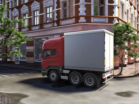funny concept lorry at the street photo