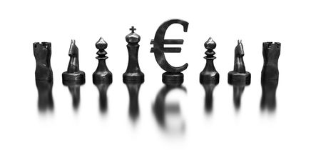 Euro symbol among the chess figures Stock Photo - 6098514