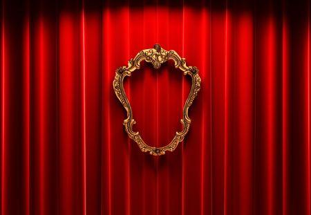 rideaux rouge: Rideaux rouge, or image