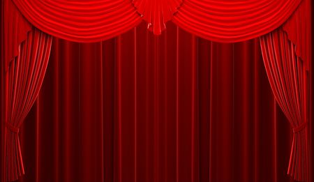 Red velvet curtain opening scene  Stock Photo - 6177785