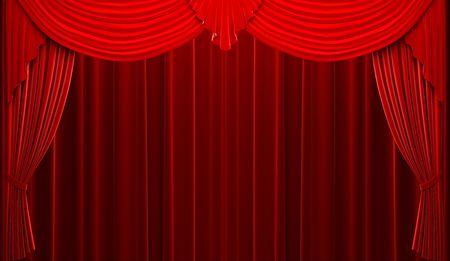 Red velvet curtain opening scene Stock Photo - 6177785