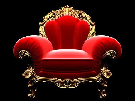 classic golden chair in the dark Stock Photo - 6183632