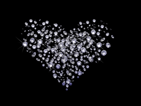 Valentine diamonds Stock Photo - 6209041