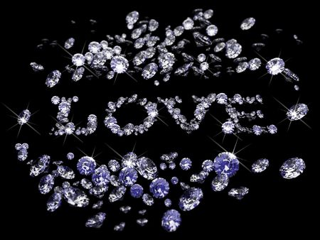 Valentines Day diamonds Stock Photo - 6209042