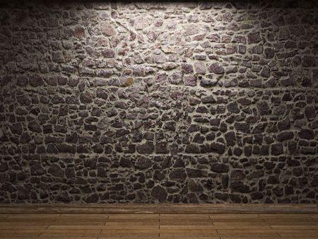 oświetlona ściany kamienia Zdjęcie Seryjne - 6269429