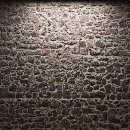 illuminated stone wall Stock Photo - 6269427