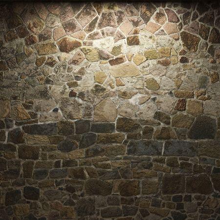 illuminated stone wall Stock Photo - 6269432