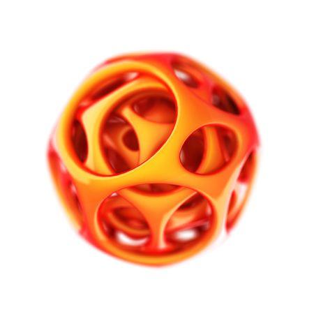 orange plastic spherical designer  photo