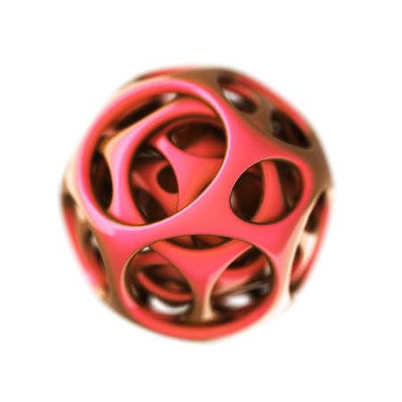 red plastic spherical designer   photo