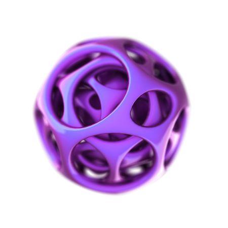 violet plastic spherical designer  photo