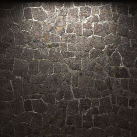 illuminated stone wall Stock Photo - 6285001