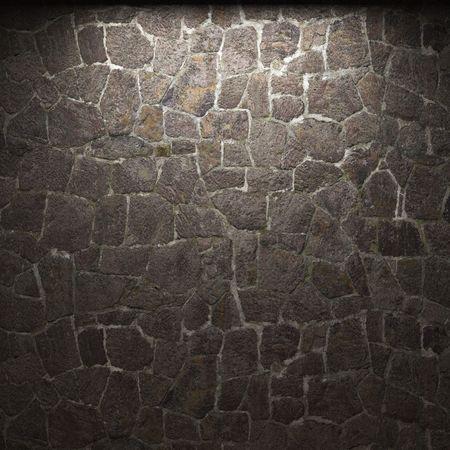 illuminated stone wall Stock Photo - 6285001