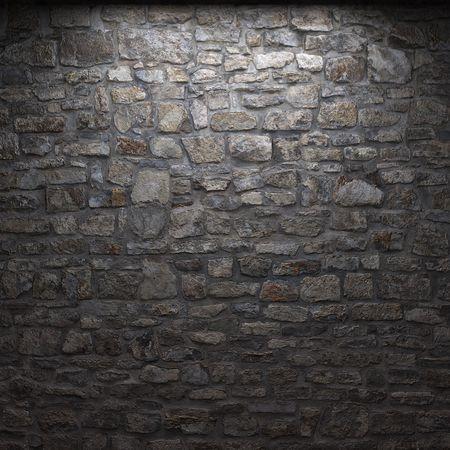illuminated stone wall Stock Photo - 6318332