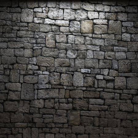 illuminated stone wall Stock Photo - 6318316