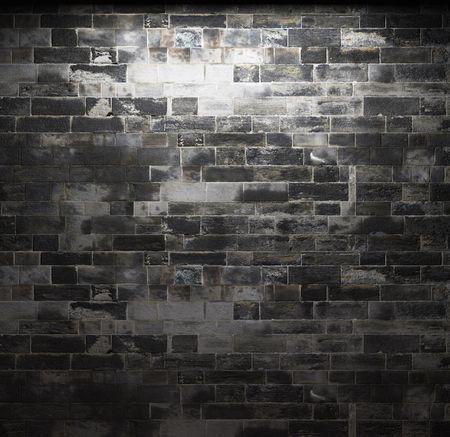 gothic castle: pared de ladrillo iluminada
