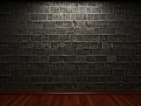 illuminated stone wall Stock Photo - 6369667