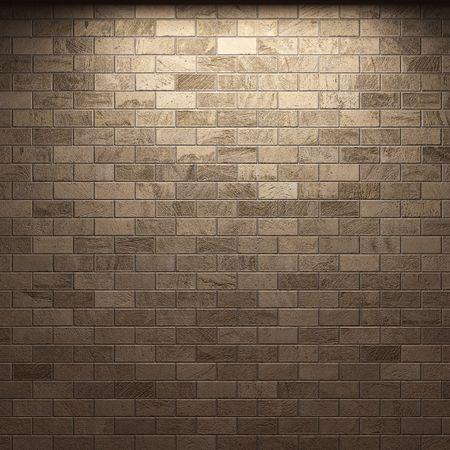 gothic castle: illuminated brick wall