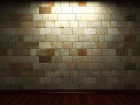 illuminated stone wall Stock Photo - 6369717