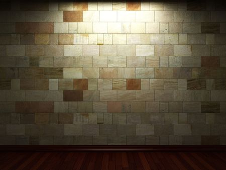illuminated stone wall Stock Photo - 6369717