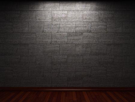 illuminated stone wall Stock Photo - 6369719