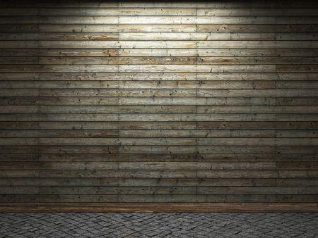 illuminated wooden wall  Stock Photo - 6390737