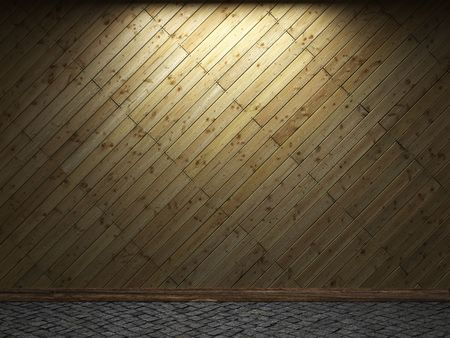 illuminated wooden wall  Stock Photo - 6390742