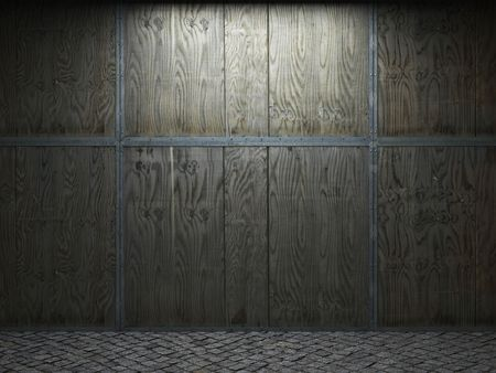 illuminated wooden wall  photo