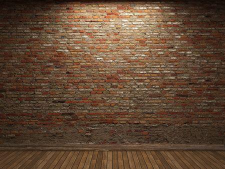 illuminated brick wall  photo