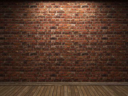 pared iluminada: pared de ladrillo iluminada