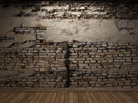 illuminated brick wall  Stock Photo - 6421691