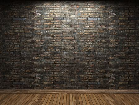 solid background: illuminated brick wall