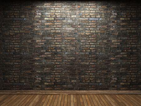illuminated brick wall Stock Photo - 6421694