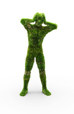 Herbal man made in 3D graphics Stock Photo - 6421687