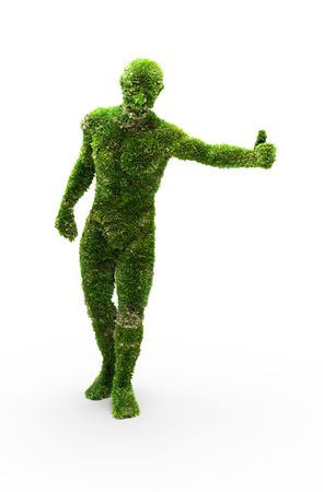 Herbal man made in 3D graphics photo