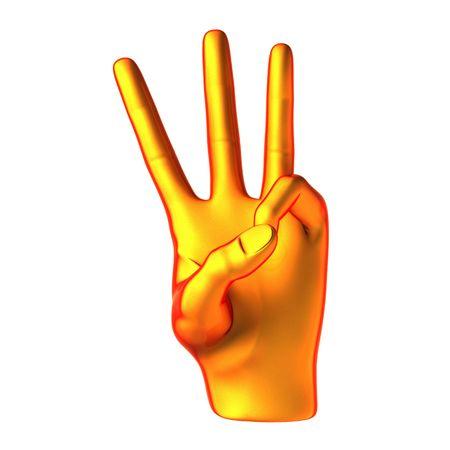 Counting orange hand isolated on white background Stock Photo - 6459726