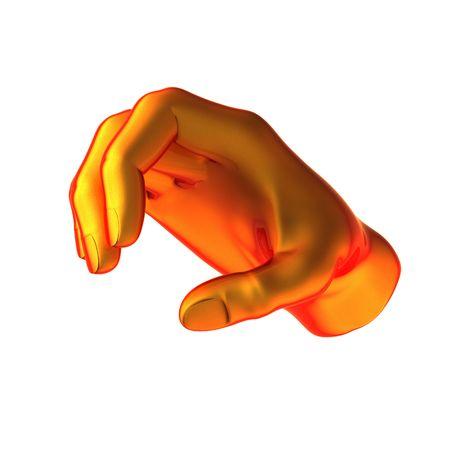 holding orange hand isolated on white background Stock Photo - 6459744