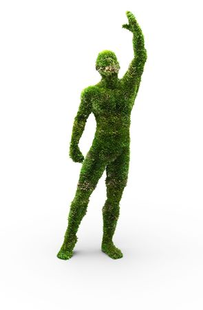 Herbal man made in 3D graphics Stock Photo - 6459767