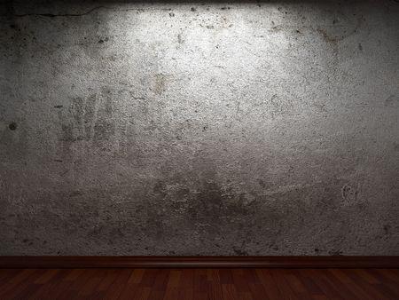 pared rota: antiguo muro de hormig�n  Foto de archivo