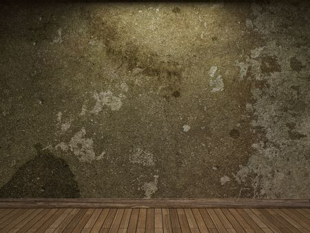 illuminated: old concrete wall