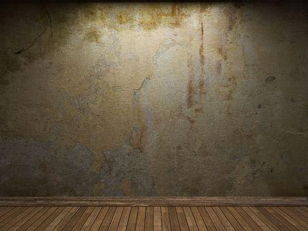 iluminado: antiguo muro de hormigón  Foto de archivo
