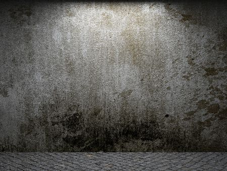damaged cement: old concrete wall