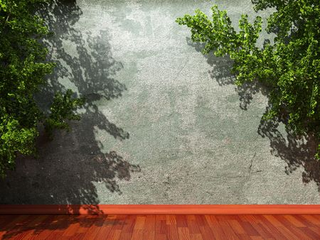 old concrete wall and ivy made in 3D graphics Stock Photo - 6617046