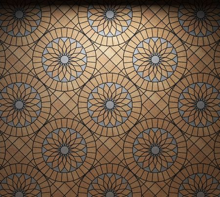 mosaic floor: illuminated tile wall