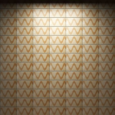 illuminated tile wall  Stock Photo - 6692873