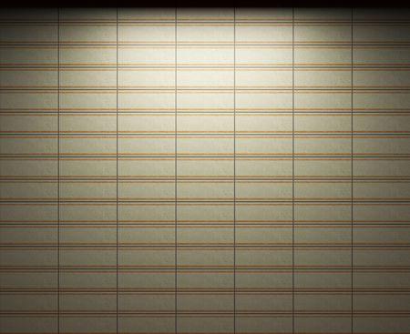 illuminated tile wall Stock Photo - 6692859