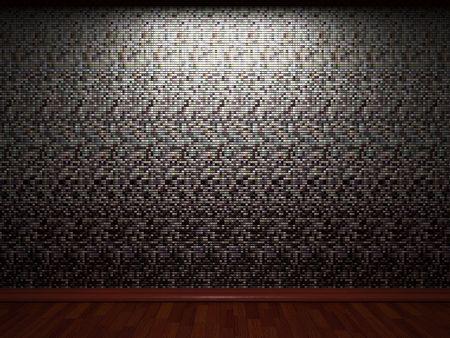 illuminated tile wall  photo