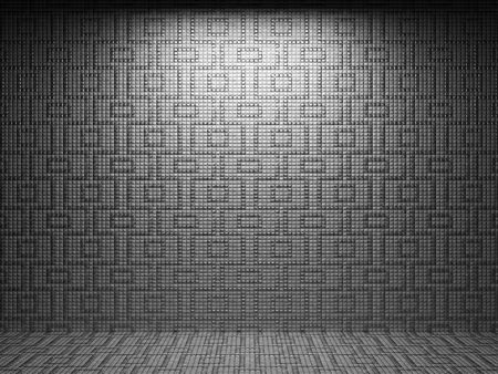 illuminated tile wall  Stock Photo - 6759350