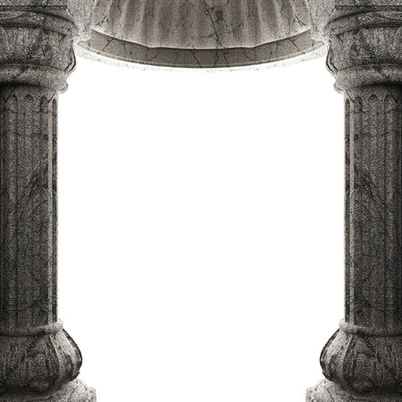 pilaster: stone columns and arch  Stock Photo
